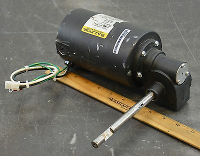 Baldor Gear Motor 2335883 Rev 1 Right Angle Motor 48 Vdc 1/4 Hp 600 Rpm 10:1