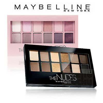 [MAYBELLINE] The Nudes / The Blushed Nudes Eye Shadow Palette 12 Colors 13 Looks