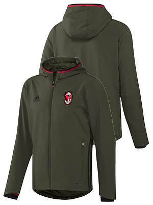 Presentation Ac Milan Adidas Training Jacket Green 2016 17 zipper pockets Hoodi