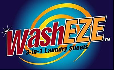 NEW WashEZE 3 in 1 Laundry Sheets  20 Count Original Scent FREE SHIPPING