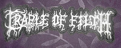 Cradle Of Filth Embroidered Patch Dani Filth Black Metal Punk Heavy Metal Diy