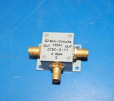 USED Mini-circuits RF Power Splitter ZESC-2-11 2 way 10MHz-2GHz SMA