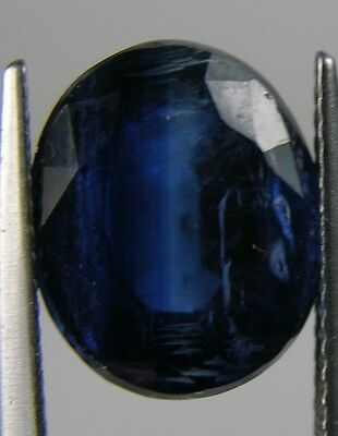 7.25ct Africa 100% Natural Sapphire Blue Oval Cut Kyanite Facet Gemstone 12.00mm