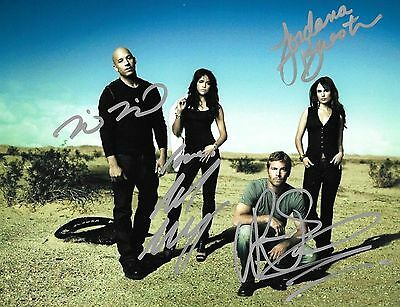 Fast and Furious cast autographed 8x10 Rp