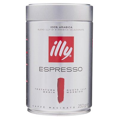 illy coffee Ground 250g - 6 tins -