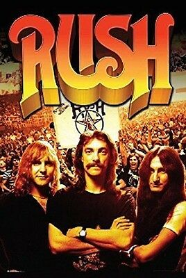 Rush Group Crowd Music Poster Print New 24x36