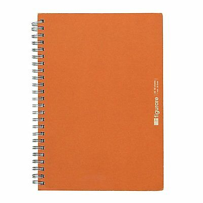Apica - Figurare A5 Twin Ring Notebook (Orange) - 80 Sheets