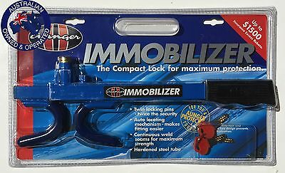 Blue Aunger Steering Lock, Heavy Duty Compact Immobiliser (Universal)