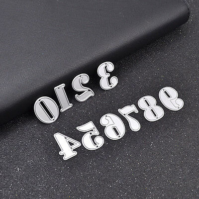 1 Set Number Cutting Dies Stencil Hand Craft Scrapbooking Paper Card Diary DIY