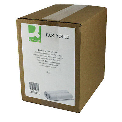 Q-Connect Fax Roll 210mm X30m X25mm