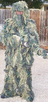 Light Weight 5 Pc Ghillie Suit Woodland Camouflage Sz Xl To 2Xl E7777