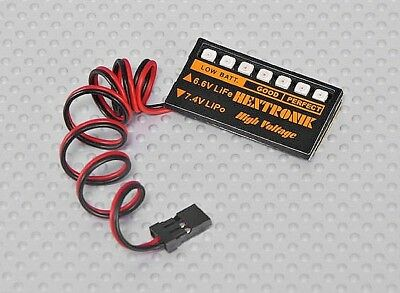 R/C Plane Selectable  Battery Voltage Indicator LED Display (Lipoly ~ LiFe)