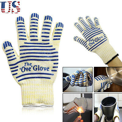 New US 2 PC Ove Glove Hot Resistance Surface Handler Oven Firefight Kitchen Tool