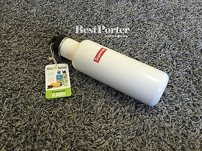 Supreme S/S 2016 Klean Kanteen Classic Water Bottle Stainless White Box Logo New