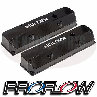 Proflow Holden 253 308 V8 Black Valve Rocker Covers Commodore Monaro Torana Ss