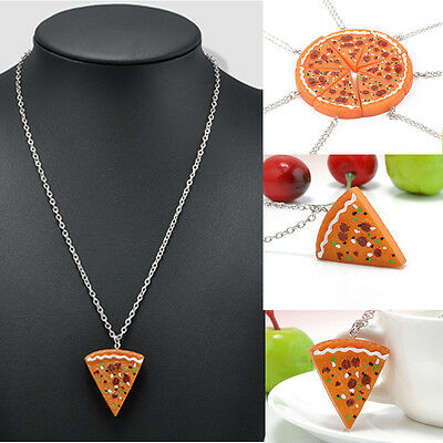 Hot Sale! Pizza Necklace Ancient Gold Silver Pizza Food Pendant Charms Jewelry