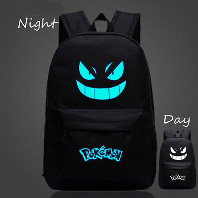 Anime Pokemon GO Blue Luminous Backpack Shoulders Bag Laptop Bag Schoolbag Hot
