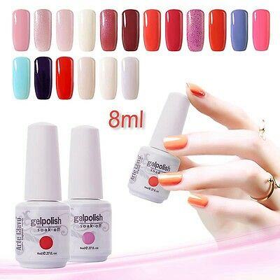 Hot 8ml Soak-off Gel Nail Polish Long-lasting Base Top Coat Primer UV LED Lamp
