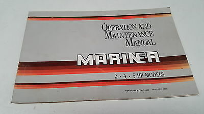 1985  MARINER OUTBOARDS  2 - 4  - 5hp Operation Manual