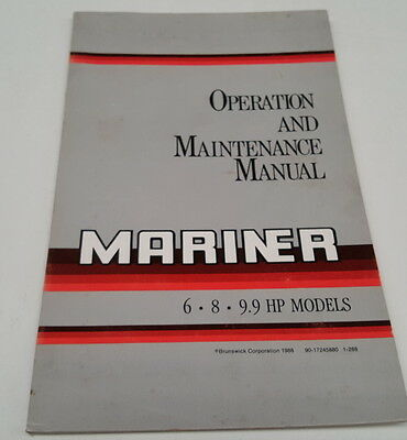 1988  MARINER OUTBOARDS  6 - 8 - 9.9hp Operation Manual