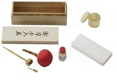 NEW Samurai Katana Japanese Sword Maintenance Cleaning Oil Kit w/ Box