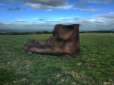 """Architectural Salvage Antique Theatre Prop """"Gullivers Travel Boot"""" Shop Display"""
