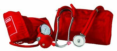 Primacare Medical Supplies DS-9181 Red Professional Blood Pressure Kit with