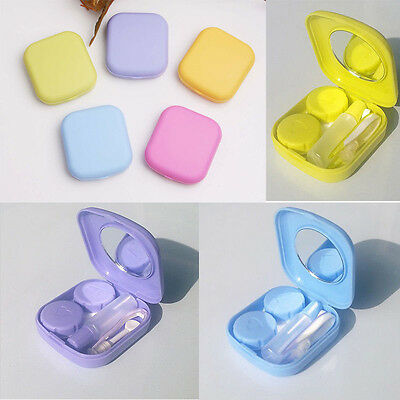 Contact Lens Case Travel Kit Mirror Pocket Storage Holder Container