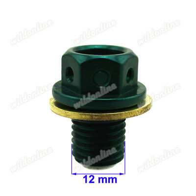 M12X1.25 M14X1.5 M20x1.5 Anodized Magnetic Engine Oil Pan Drain Bolt Plug Green