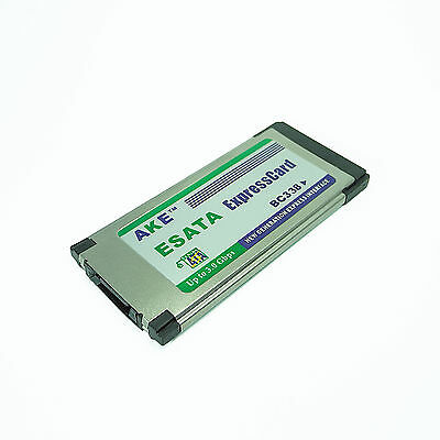 PC Express Card 34mm eSATA II 3Gbps 1 Ports adapter For Notebook Laptop PC Win10