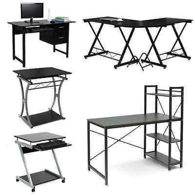 Modern PC Computer Office Desk Table Workstation with Cupboard 4-Type for Choose