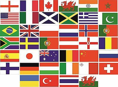 World Country Flag Pack Car Decals Stickers