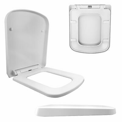 Luxury Square Design Toilet Seat | Soft Close | One Button Release | Top Fixing
