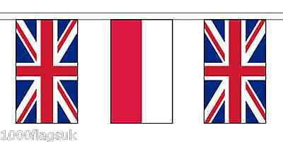 Poland & United Kingdom UK Polyester Flag Bunting - 20m with 56 Flags