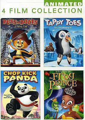 CHILDREN  DVD - PUSS n BOOTS + TAPPY TOES + CHOP KICK PANDA + THE FROG PRINCE