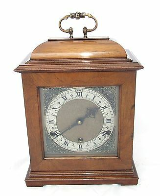 GERRARD LONDON Walnut Musical Westminster Chime Bracket Clock : CHIME / SILENT • £495.00