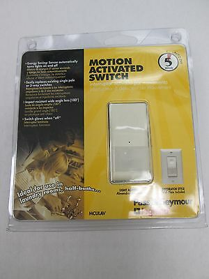 PASS&SEYMOUR MOTION ACTIVATED SWITCH 5 MIN AUTO OFF (light almond) MCULAV