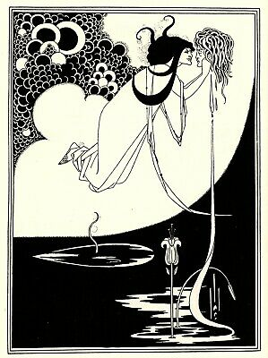 The Climax - Aubrey Beardsley 1872 1898 Art Print Picture A4
