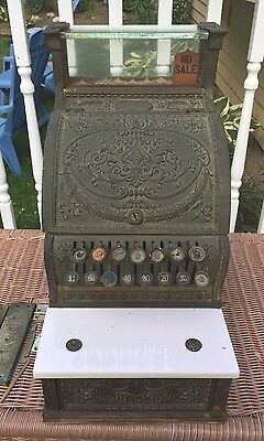 Ant National Cash Register Class 300 w/ Marble Shelf Glass Top Beautiful Details