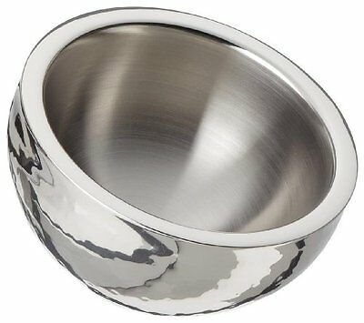 Elegance Hammered 6-Inch Stainless Steel Dual Angle Doublewall Serving Bowl
