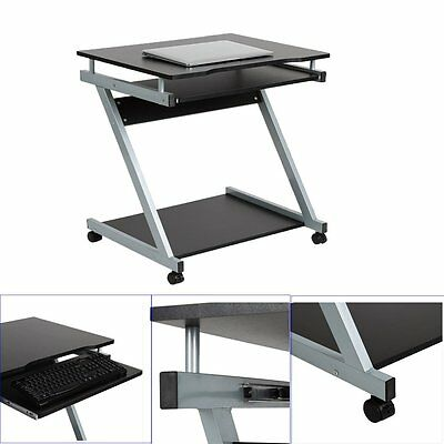 2016 PC Wheels Computer Desk Home Office Workstation Small Space Saving Unit New