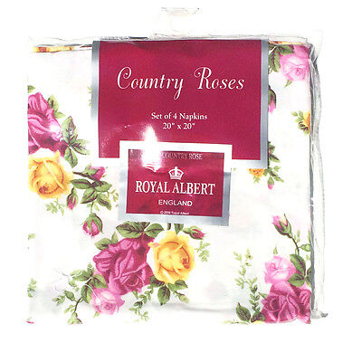 """Royal Albert Old Country Roses Napkins 20"""" X 20"""" - Set of 4"""