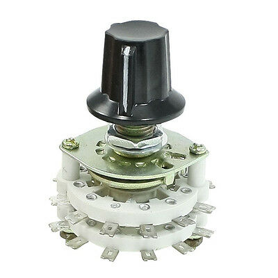 Band Channael Rotary Switch 2P11T 2 Pole 11 Position Dual Deck N3