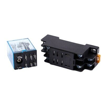 12V DC Coil Power Relay DPDT LY2NJ HH62P-L JQX-13F With PTF08A Socket Base N3
