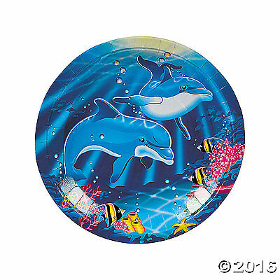 """Dolphin Dinner Plates 8 Pack 9"""""""