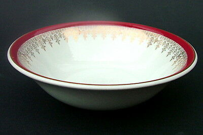 Myott Meakin 1980's Royalty Red Pattern Soup Cereal Dessert Bowls 16.5cm in VGC