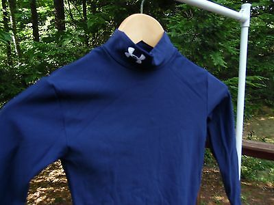 NEW Under Armour Youth M ColdGear Mock Compression L/S Base Layer Athletic Shirt