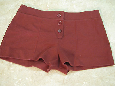 Vintage 70's REDEYE RED EYE Ponte Knit SHORT SHORTS Stretch BUTTON-FLY sz 5/S