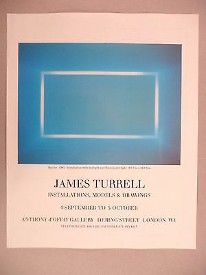 James Turrell - Anthony d'Offay Art Gallery Exhibit PRINT AD - 1991