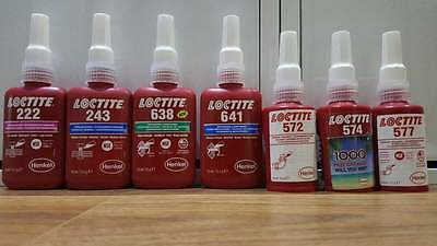 Loctite 222|243|638|641|572|574|577 50Ml Uk Style Exp Dates All In 2017
